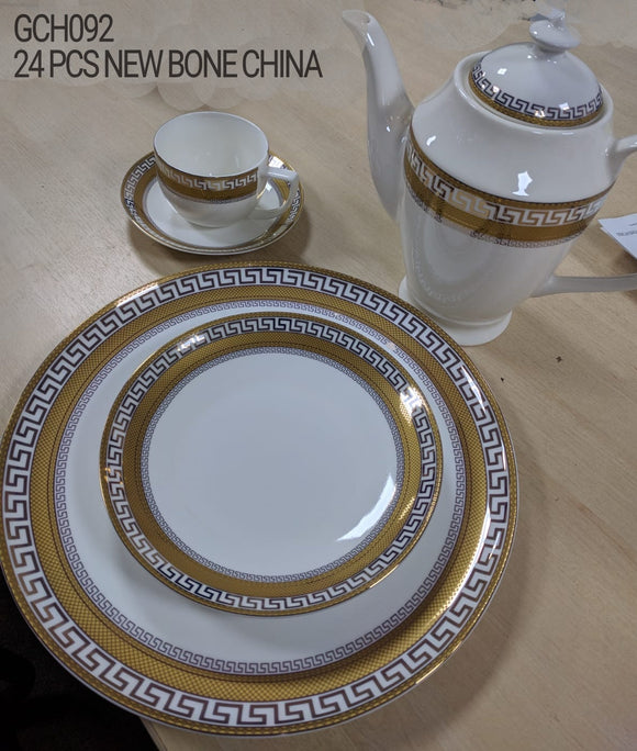 24PC NEW BONE CHINA TEA SET