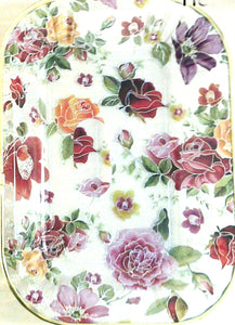 ARCRYLIC OBLONG FLORAL TRAY