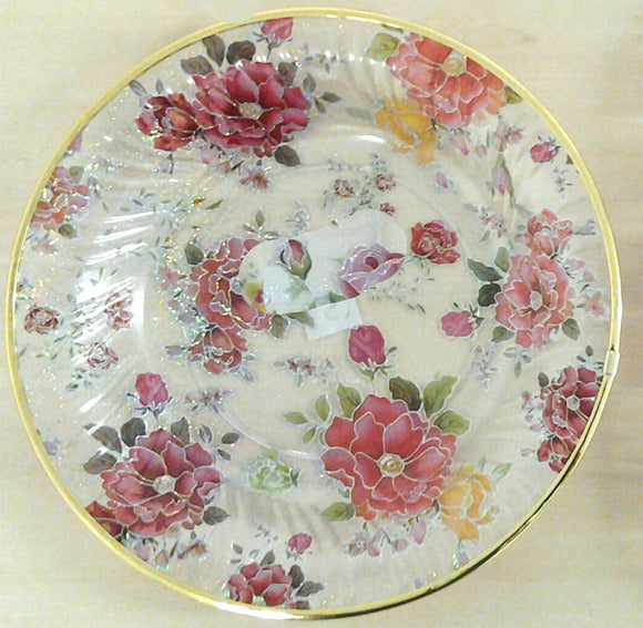 ACRYLIC ROUND FLORAL TRAY