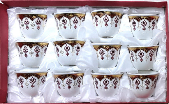 12PC BONE CHINA CAWA CUPS