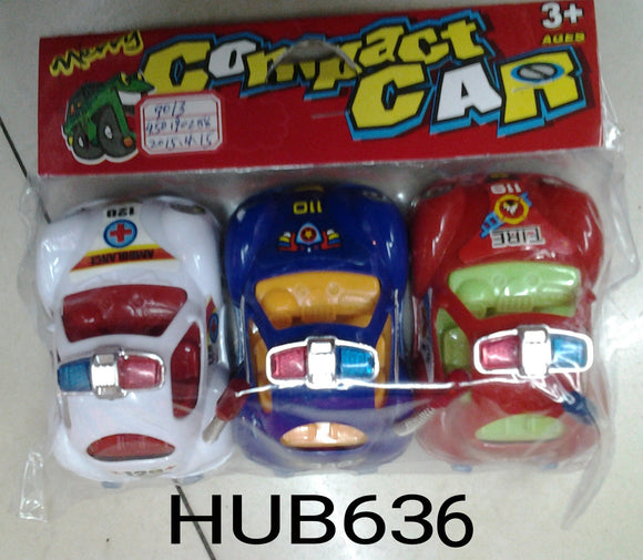 3PC SMALL TOY CAR (9013)