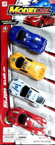 4PC CARDED CAR TOY