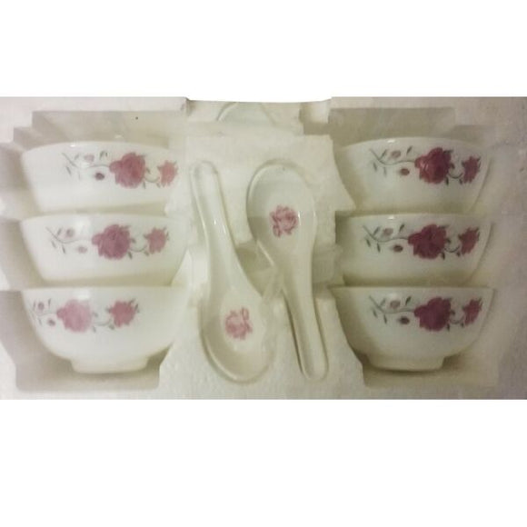 PYRONEX 12PC SPOON AND BOWL SET PINK