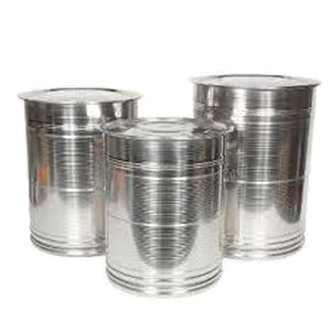 SS DRUM WITH LID 4PC 26/28/30/32