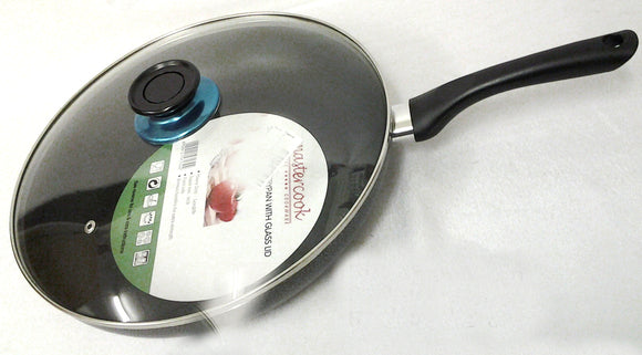 26CM NON STICK FRYPAN WITH GLASS LID