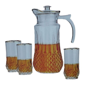 7PC GOLD ENTERTAINER WATER SET