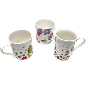 MEDIUM BONE CHINA MUG TRENT & LARGE WIDE MUG ASH