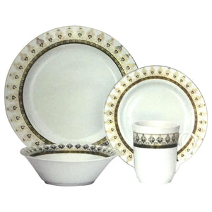 16PC SORENA PORCELAIN DINNER SET