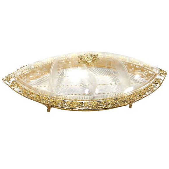 GOLD OVAL COMPARTMENT BOAT