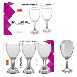 IMPERIAL 3PC WINE GLASS 240ML