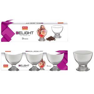 DELIGHT ICE CREAM BOWL SET 3PC