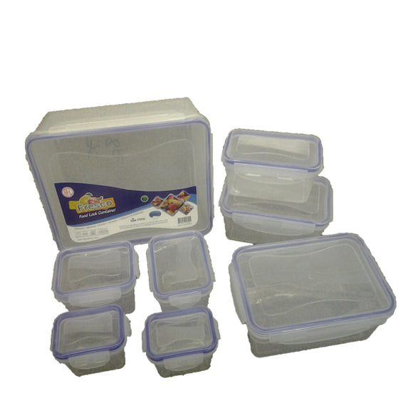 FOOD LOCK CONTAINER 8PC SET