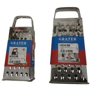 "GRATER 4 SIDED S/S 9"" TE16-9 AND S/S 8"" TE06-8"