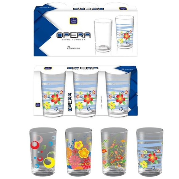 OPERA 3PC PRINTED TUMBLER 250ML PF-50, PF-97, PF-163, PF-98