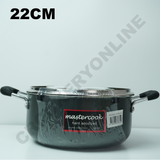 aMastercook Hard Anodized Pot Pan Casserole With Lid Heavy Gauge Curry Stew Soup