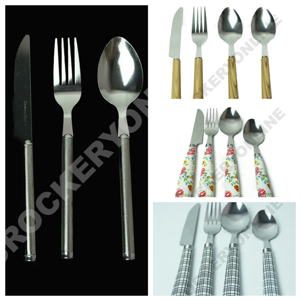 24Pc Various Stainless Steel Tableware Dining Kitchen Cutlery Gift Set Choice