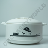 Hot Pot Food Insulated Serving Casserole Dish Pan Storage Thermal Round 4800ML