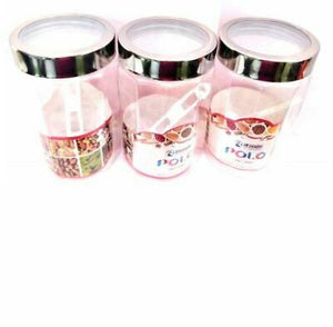 3pcs Clear Transparent Containers Jars Plastic Polo PET Pot Spice with Spoons