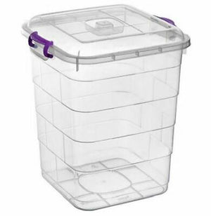 Plastic Pantry Box Lid Clip Lock Food Container Storage 5 litre