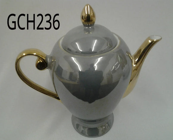 Silver and Gold Teapot