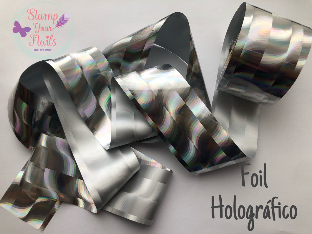 Foil holográfico - Stamp your nails