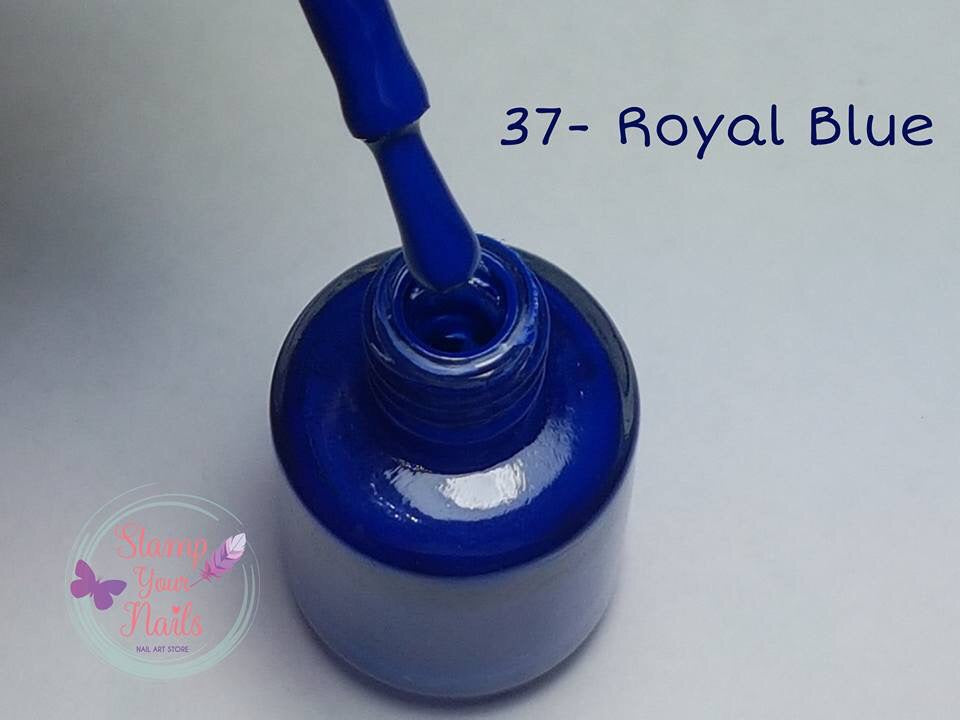 37 Royal Blue - Stamp your nails
