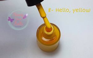 Hello Yellow - Stamp your nails