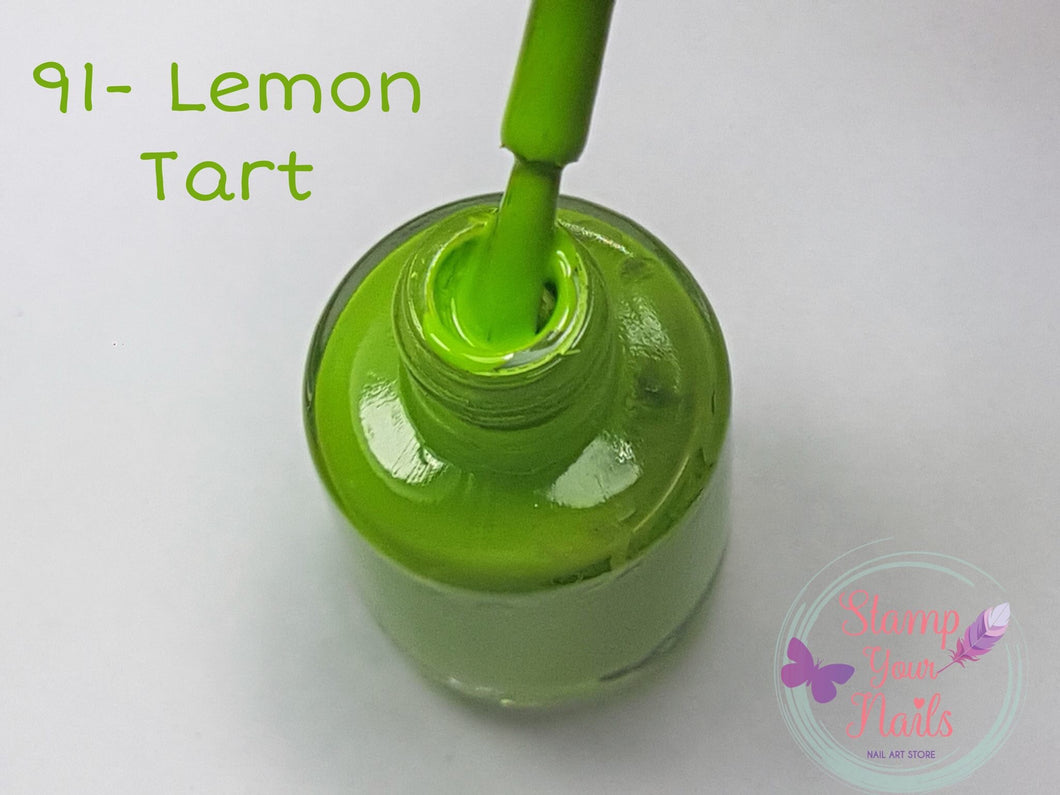91 Lemon Tart - Stamp your nails