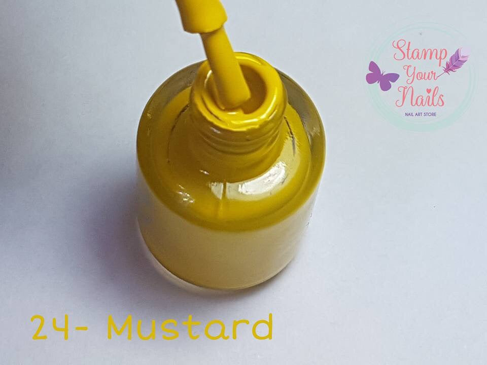 24 Mustard - Stamp your nails