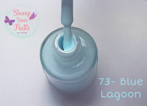 73 Blue Lagoon - Stamp your nails