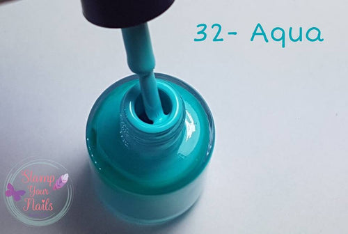32 Aqua - Stamp your nails
