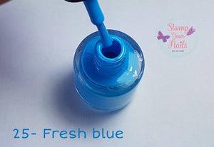 25 Fresh Blue - Stamp your nails