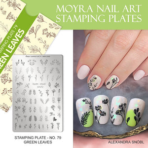 Green Leaves - Stamp your nails