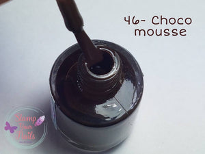 46 Choco moose - Stamp your nails