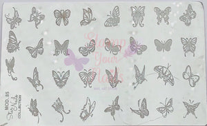 Butterflies - Stamp your nails