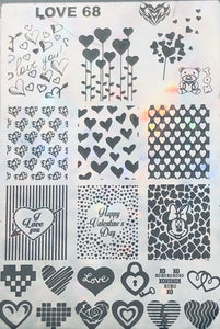 Hearts - Stamp your nails