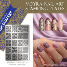 Damask Drapery - Stamp your nails