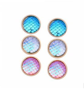 3 Pairs/Set little mermaid stud Earrings For Women Round Earrings set mix Vintage earing 2018  Minimalist party jewelry