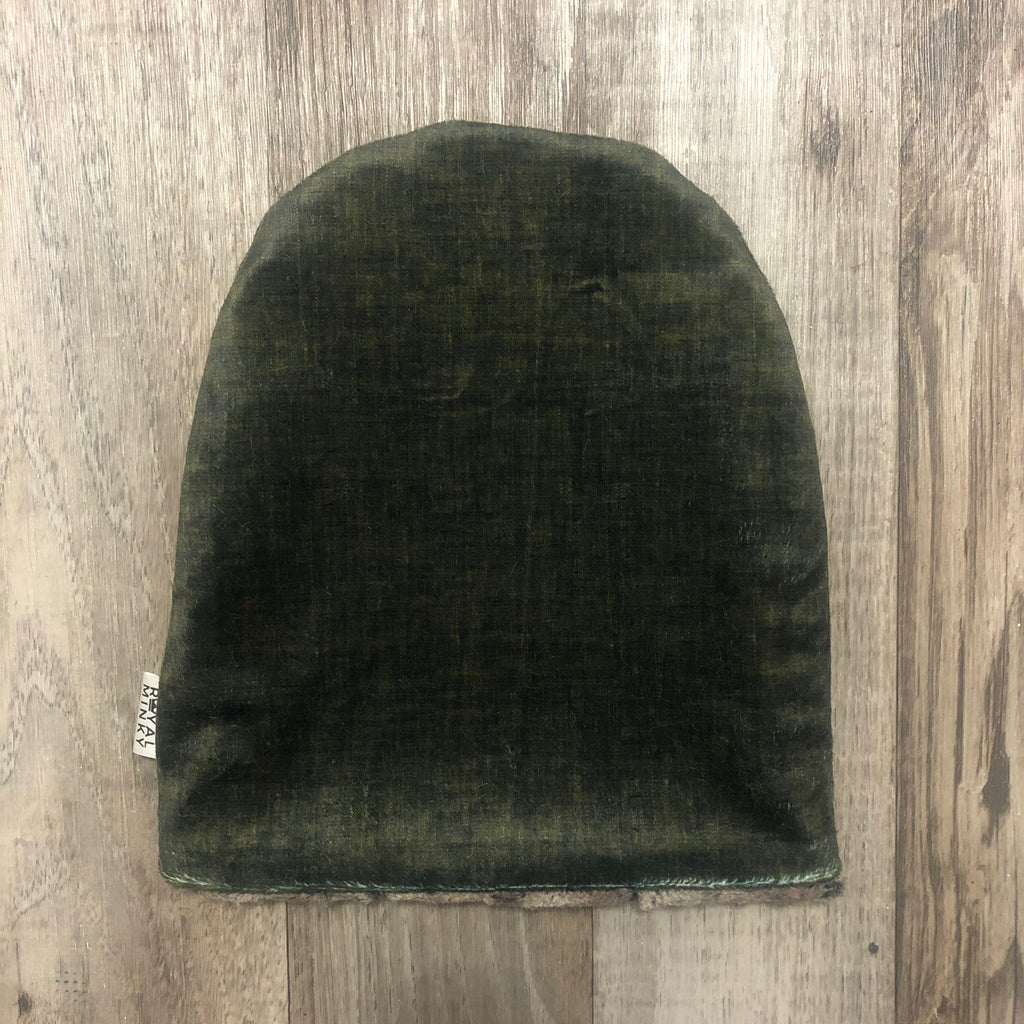 Olive Linen Toque - Royal Minky Canada