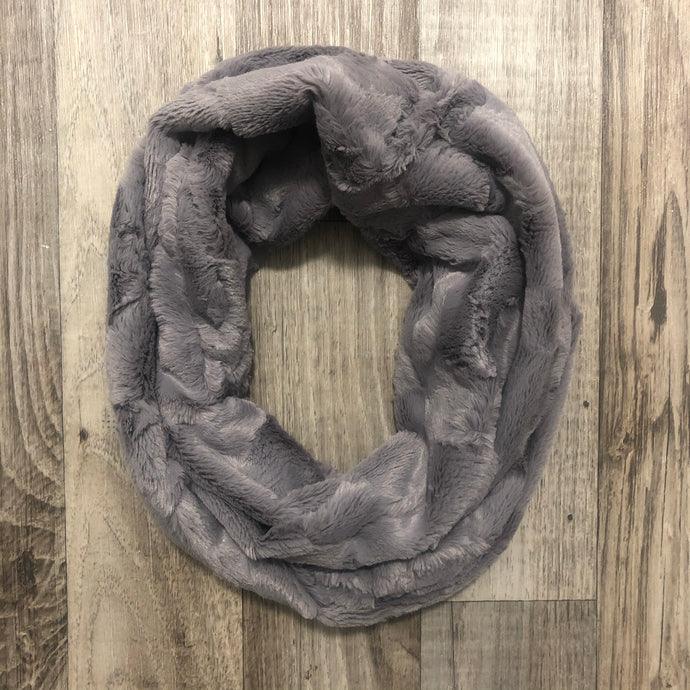 Graphite Hide Infinity Scarf - Royal Minky Canada