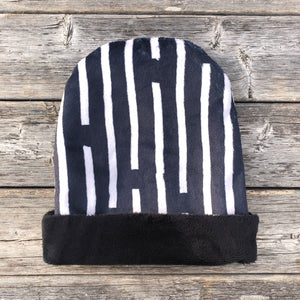 Charcoal Line Toque - Royal Minky Canada