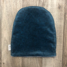 Load image into Gallery viewer, Navy Linen Toque - Royal Minky Canada