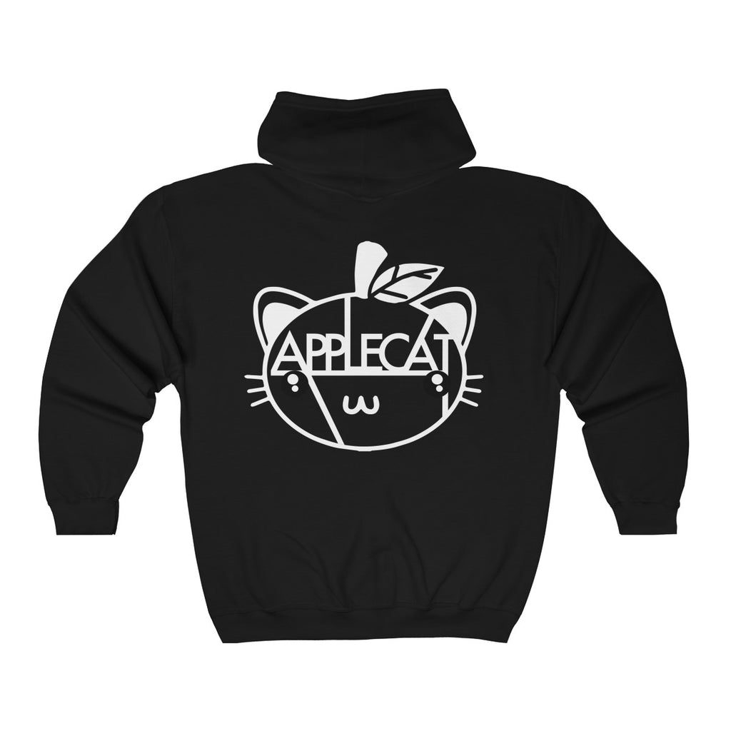 AppleCat Unisex Zip Up Hoodie (12 colours available)