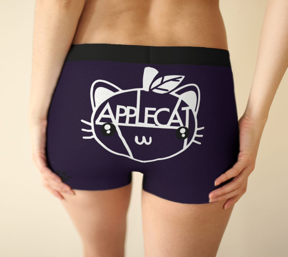 Purple Whatever Gender AppleCat Boyshorts
