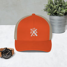 Load image into Gallery viewer, X Heart Trucker Cap - White Symbol