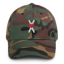 Load image into Gallery viewer, Camo Baseball Hat - Heart Symbol Dad Cap