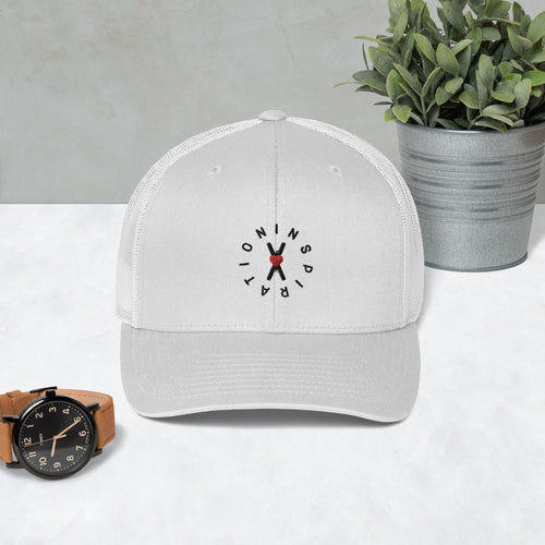 White Snapback Hat - Circle of Inspiration