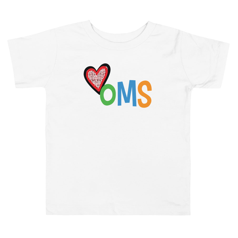 Heart Shirt for Toddlers (white) - HOMS Kids