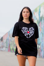 Load image into Gallery viewer, Graffiti Heart T Shirt  - Love Graphic Tee (black)