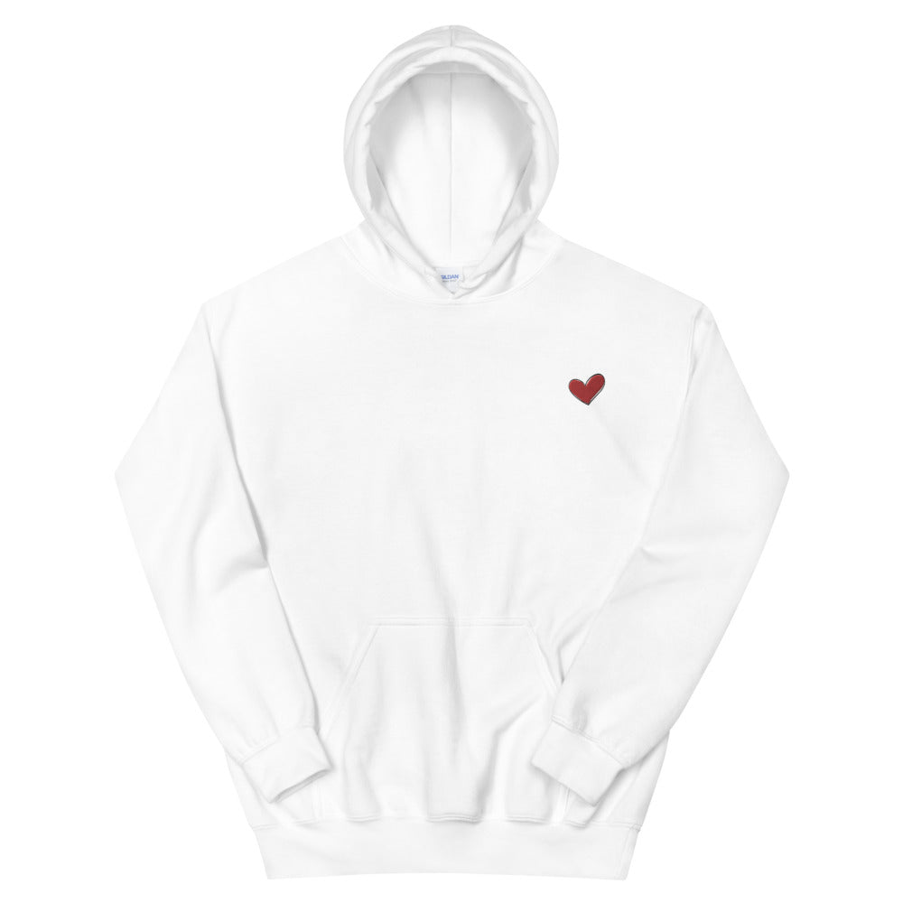 Heart Hoodie - Love + Kindness Shirt | Heart On My Sleeve Confident Clothing Brand